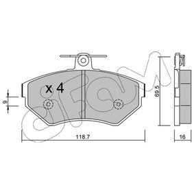 Bremsbelagsatz, Scheibenbremse Dicke/Stärke 1: 16,0mm mit OEM-Nummer 1HM.698.151