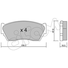 Bremsbelagsatz, Scheibenbremse Dicke/Stärke 1: 16,5mm mit OEM-Nummer 41060 62C90