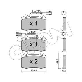Bremsbelagsatz, Scheibenbremse Dicke/Stärke 1: 17,5mm mit OEM-Nummer 5 892 740