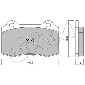 Bremsbelagsatz, Scheibenbremse Dicke/Stärke 1: 15,0mm mit OEM-Nummer MXD 275 0AA