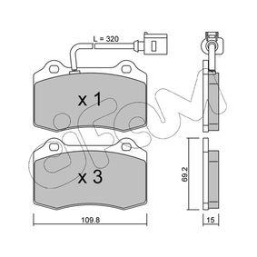 Bremsbelagsatz, Scheibenbremse Dicke/Stärke 1: 15,0mm mit OEM-Nummer 1ML698 151