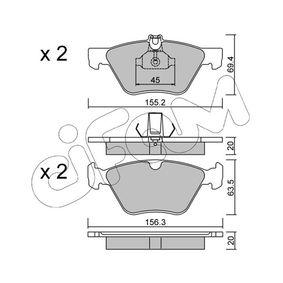 Bremsbelagsatz, Scheibenbremse Breite 2: 156,3mm, Höhe 2: 63,5mm, Dicke/Stärke 2: 20,0mm mit OEM-Nummer 004420 03 20