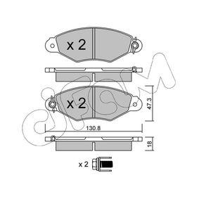 Renault Kangoo KC 1.6 16V bivalent Bremsbeläge CIFAM 822-253-0 (1.6 16V bivalent Benzin/Erdgas (CNG) 2013 K4M 850)