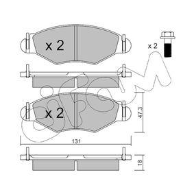Bremsbelagsatz, Scheibenbremse Dicke/Stärke 1: 18,0mm mit OEM-Nummer 42.5305