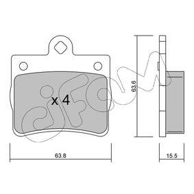 Bremsbelagsatz, Scheibenbremse Dicke/Stärke 1: 15,5mm mit OEM-Nummer A00 242 05 120