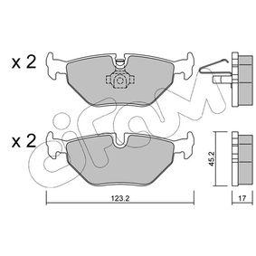 CIFAM  822-261-0 Bremsbelagsatz, Scheibenbremse Dicke/Stärke 1: 17,0mm
