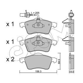 Bremsbelagsatz, Scheibenbremse Dicke/Stärke 1: 19,5mm mit OEM-Nummer 7D0 698 151 F