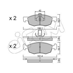 Bremsbelagsatz, Scheibenbremse Breite 2: 151,4mm, Höhe 2: 52,7mm, Dicke/Stärke 2: 18,0mm mit OEM-Nummer 9948870