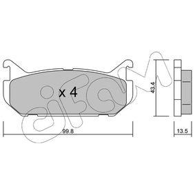 Bremsbelagsatz, Scheibenbremse Dicke/Stärke 1: 13,5mm mit OEM-Nummer G5Y52643Z