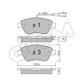 Bremsbelagsatz, Scheibenbremse Dicke/Stärke 1: 18,0mm mit OEM-Nummer 77366135