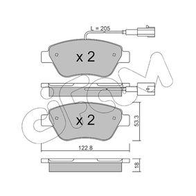 Bremsbelagsatz, Scheibenbremse Dicke/Stärke 1: 18,0mm mit OEM-Nummer 7 177 011 8