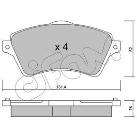Bremsbelagsatz, Scheibenbremse Dicke/Stärke 1: 18,0mm mit OEM-Nummer 236.15