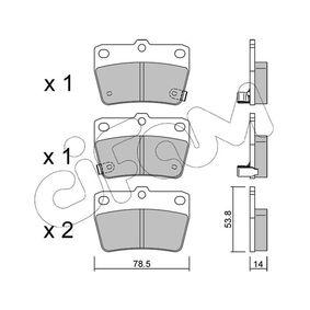 Brake Pad Set, disc brake 822-431-0 RAV 4 II (CLA2_, XA2_, ZCA2_, ACA2_) 2.0 D 4WD (CLA20_, CLA21_) MY 2001
