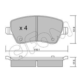 Bremsbelagsatz, Scheibenbremse Dicke/Stärke 1: 17,5mm mit OEM-Nummer 41060 AX625