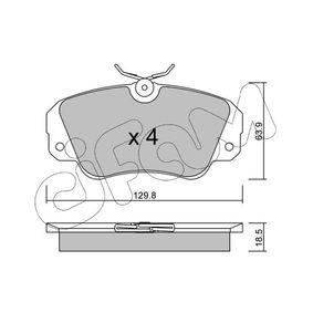 Bremsbelagsatz, Scheibenbremse Dicke/Stärke 1: 18,5mm mit OEM-Nummer 1605004