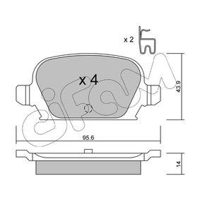 Bremsbelagsatz, Scheibenbremse Dicke/Stärke 1: 14,0mm mit OEM-Nummer 9200132