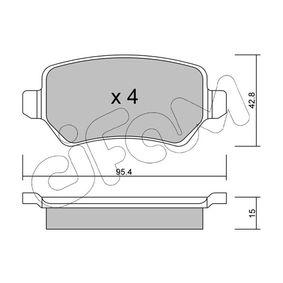 Bremsbelagsatz, Scheibenbremse Dicke/Stärke 1: 15,0mm mit OEM-Nummer 1605 122