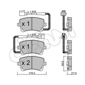 Bremsbelagsatz, Scheibenbremse Dicke/Stärke 1: 17,5mm mit OEM-Nummer 3D0698451