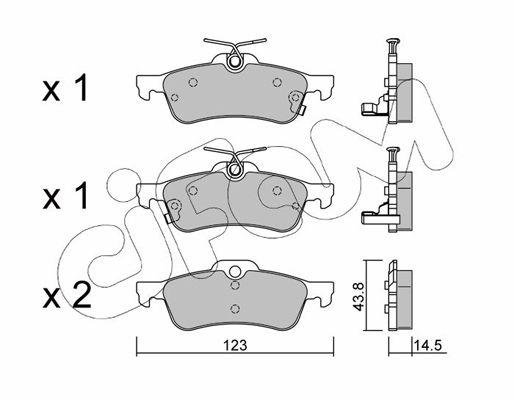 CIFAM  822-556-1 Bremsbelagsatz, Scheibenbremse Dicke/Stärke 1: 14,5mm