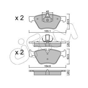 Bremsbelagsatz, Scheibenbremse Breite 2: 155,1mm, Höhe 2: 63,5mm, Dicke/Stärke 2: 20,0mm mit OEM-Nummer 34116799166