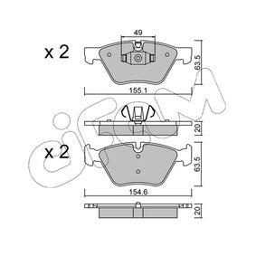 Bremsbelagsatz, Scheibenbremse Breite 2: 155,1mm, Höhe 2: 63,5mm, Dicke/Stärke 2: 20,0mm mit OEM-Nummer 34116777772