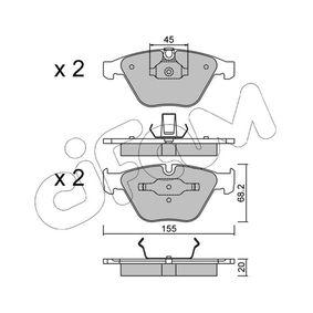 Bremsbelagsatz, Scheibenbremse Dicke/Stärke 1: 20,0mm mit OEM-Nummer 34116776161