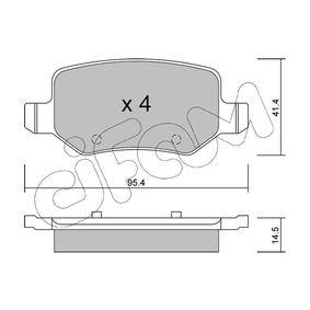 Bremsbelagsatz, Scheibenbremse Dicke/Stärke 1: 14,5mm mit OEM-Nummer A169 420 1720