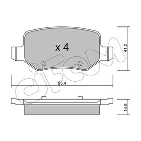 Brake Pad Set, disc brake Thickness 1: 14,5mm with OEM Number A414 420 01 20
