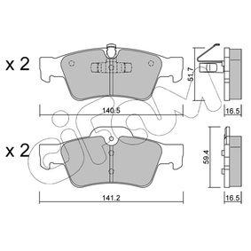Комплект спирачно феродо, дискови спирачки 822-568-1 M-класа (W164) ML 320 CDI 3.0 4-matic (164.122) Г.П. 2008