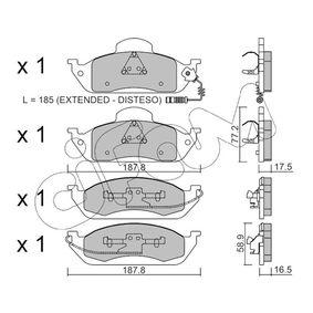 Bremsbelagsatz, Scheibenbremse Höhe 2: 77,2mm, Dicke/Stärke 1: 16,5mm, Dicke/Stärke 2: 17,5mm mit OEM-Nummer A163 420 03 20