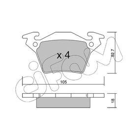 Bremsbelagsatz, Scheibenbremse Dicke/Stärke 1: 18,0mm mit OEM-Nummer A 000 421 4210