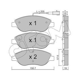 Bremsbelagsatz, Scheibenbremse Dicke/Stärke 1: 19,0mm mit OEM-Nummer 9 949 279