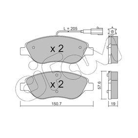 Bremsbelagsatz, Scheibenbremse Dicke/Stärke 1: 19,0mm mit OEM-Nummer 7736 5188