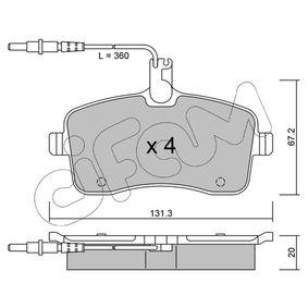 Bremsbelagsatz, Scheibenbremse Dicke/Stärke 1: 20,0mm mit OEM-Nummer 4254-22