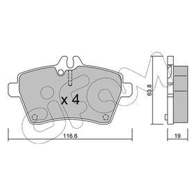 Bremsbelagsatz, Scheibenbremse Dicke/Stärke 1: 19,0mm mit OEM-Nummer 169 420 0220