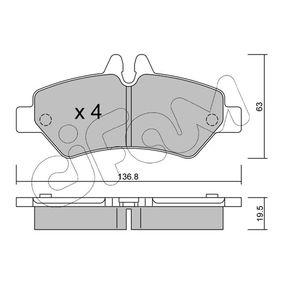 Bremsbelagsatz, Scheibenbremse Dicke/Stärke 1: 19,5mm mit OEM-Nummer A 004 420 69 20