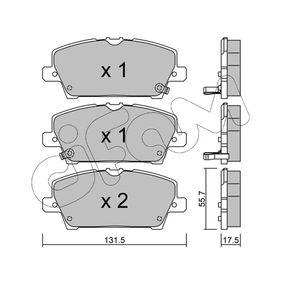 Juego de pastillas de freno 822-728-0 CIVIC 8 Hatchback (FN, FK) 2.2 CTDi (FK3) ac 2013