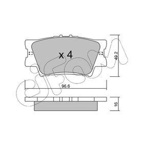 Bremsbelagsatz, Scheibenbremse Dicke/Stärke 1: 16,0mm mit OEM-Nummer 04466-06100