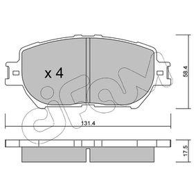 Bremsbelagsatz, Scheibenbremse Dicke/Stärke 1: 17,5mm mit OEM-Nummer 04465 33 240