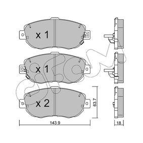 Bremsbelagsatz, Scheibenbremse Dicke/Stärke 1: 17,5mm mit OEM-Nummer 04465-30320