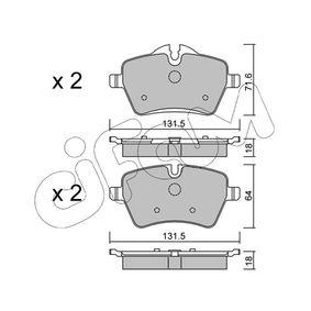 Bremsbelagsatz, Scheibenbremse Breite 2: 131,5mm, Höhe 2: 64,0mm, Dicke/Stärke 2: 18,0mm mit OEM-Nummer 34 11 6 778 320