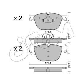 Tapa de Balancines BMW X5 (E70) 3.0 d de Año 02.2007 235 CV: Juego de pastillas de freno (822-770-0) para de CIFAM