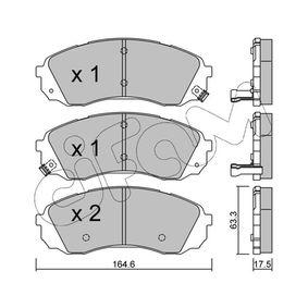 Bremsbelagsatz, Scheibenbremse Dicke/Stärke 1: 17,5mm mit OEM-Nummer 581014HA00