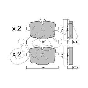 CIFAM  822-921-0 Bremsbelagsatz, Scheibenbremse Dicke/Stärke 1: 17,5mm