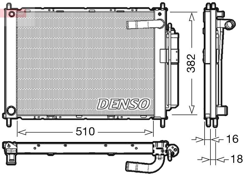 DENSO  DRM46101 Módulo de refrigeración Peso: 4540g