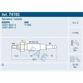 Glühkerze Gewindemaß: M 10x1.25 mit OEM-Nummer 15521-65512