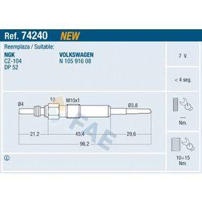 Glühkerze Gewindemaß: M 10x1 mit OEM-Nummer N 105 91 601