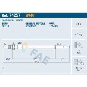 Candeletta Dimensioni filettatura: M 9x1 con OEM Numero 93178047
