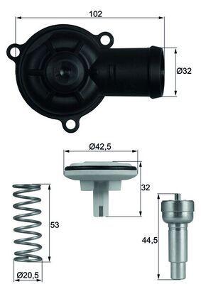 Radiator Thermostat TI 220 87D MAHLE ORIGINAL 72352695 original quality