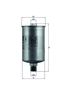MAHLE ORIGINAL  TI 41 89D Thermostat, coolant